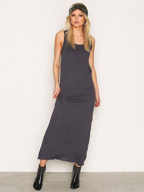 Billede af American Vintage Round Collar Long Dress Maxikjole Carbone