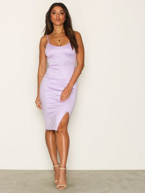 Billede af NLY One Bandage Slit Dress Kropsnære kjoler Lyse lilla