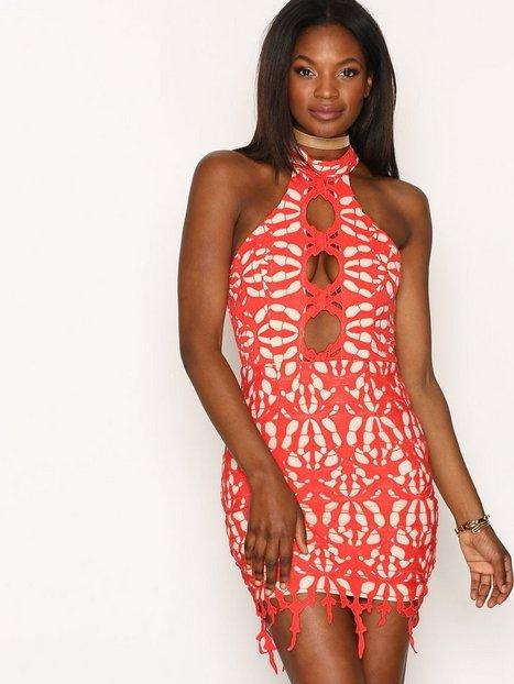Billede af Love Triangle Cut Out Lace Mini Dress Kropsnære kjoler Red