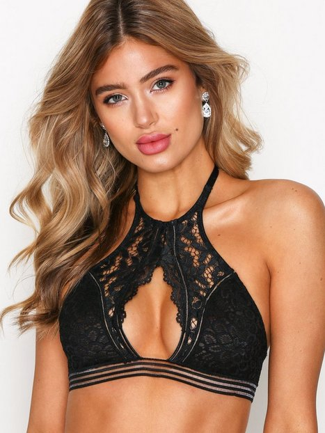 NLY Lingerie High-Neck Softbra Bandeau & Soft-Bra Svart thumbnail