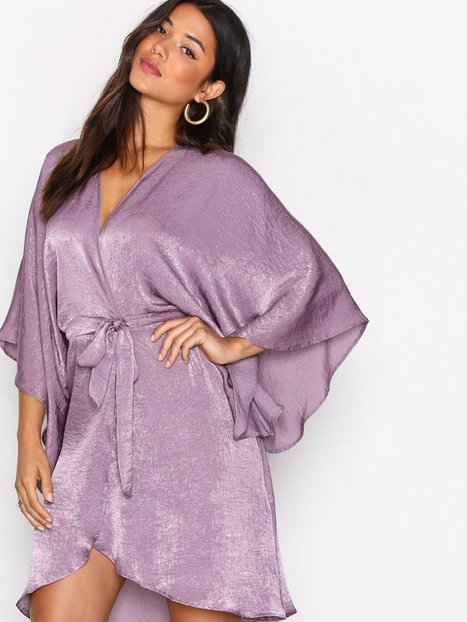 Wrap Kimono Midi Dress