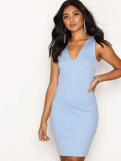 Billede af NLY One Basic Bandage Bodycon Kropsnære kjoler Lyse Blå