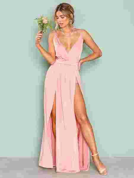 e18ef51b3d78 Shoppa Double Slit Maxi Dress - Online Hos Nelly.com