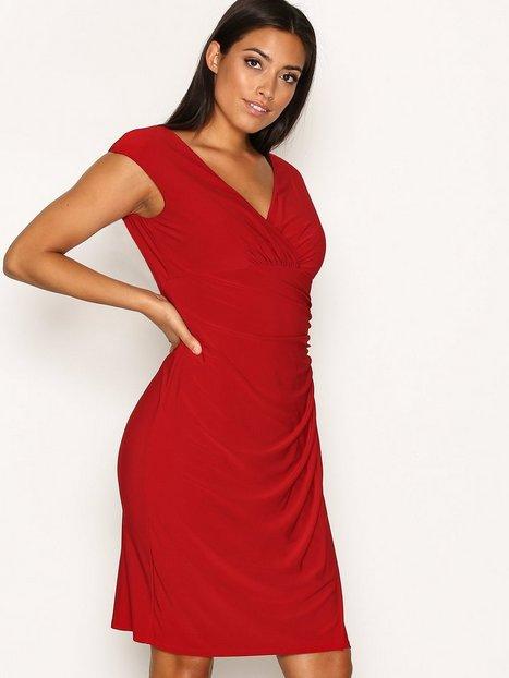 Billede af Lauren Ralph Lauren Adara Cap Sleeve Dress Kropsnære kjoler Red