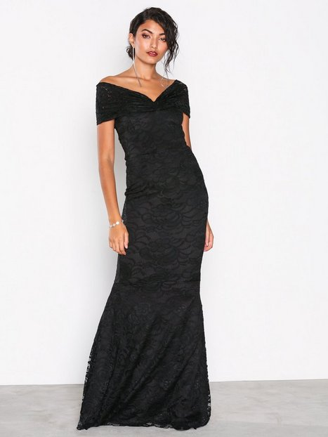 Honor Gold Mila Lace Maxi Dress Maxiklänningar Black thumbnail