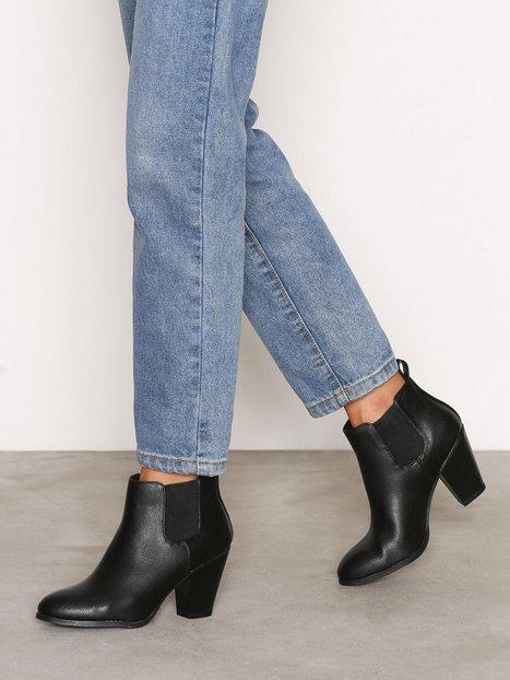 Billede af Bianco Heel Chelsea Boot Heel Black