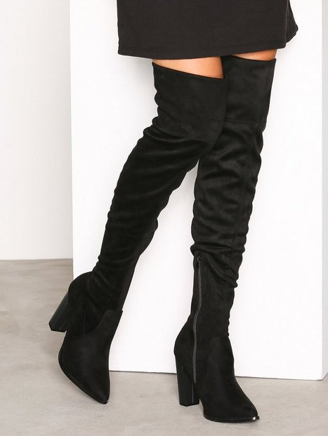Billede af Bianco Overknee Stretch Boot Over the knee Black