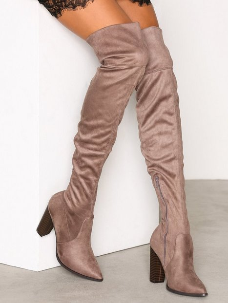 Billede af Bianco Overknee Stretch Boot Over the knee Nougat
