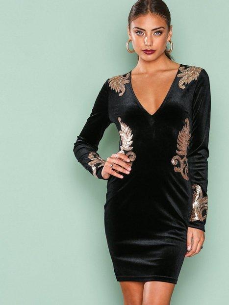 Decore Velvet Dress - Nly One - Schwarz - Partykleider - Kleidung ...
