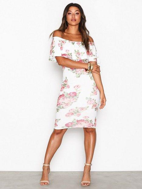 Frill Print Dress