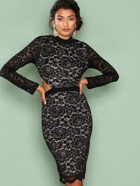 Billede af Love Triangle Back To Black Lace Dress Kropsnære kjoler Black