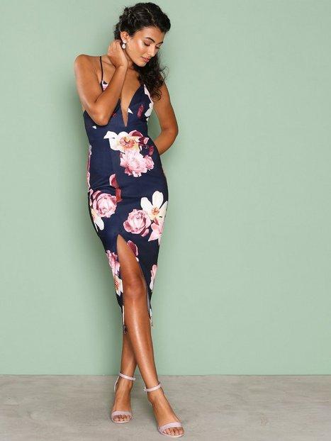 Billede af Ginger Fizz Boquet Dreams Midi Dress Kropsnære kjoler Navy/Floral