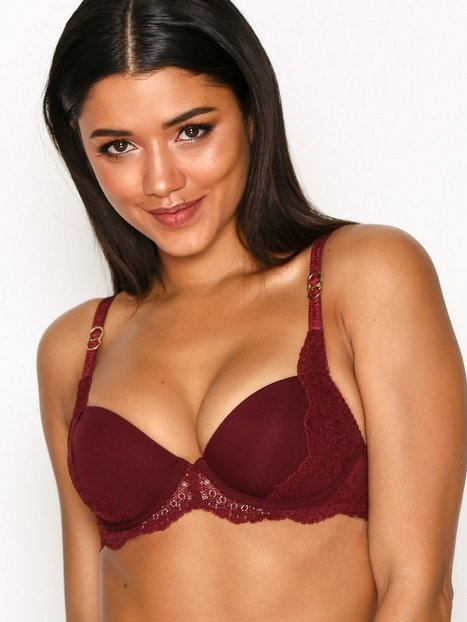 Stella McCartney Lingerie Smooth And Lace Contour Bra Bandeau & Soft-Bra Röd thumbnail
