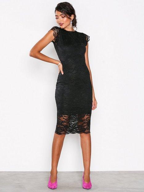 Billede af Honor Gold Faye Cap Sleeve Midi Dress Kropsnære kjoler Black