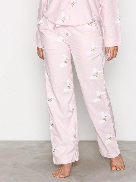 Billede af NLY Lingerie Flannel Pyjama Pants Pyjamas & Hyggetøj Rosa mønstret