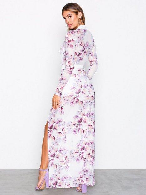 Mesh High Slit Dress