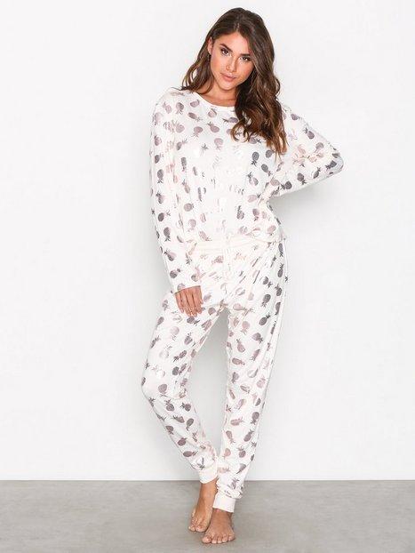Billede af Chelsea Peers Pineapple PJ Set Pyjamas & Hyggetøj Ecru
