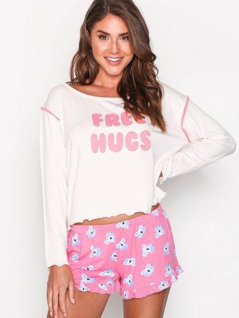 Billede af Chelsea Peers Free Hugs Short Set Pyjamas & Hyggetøj Rosa/Lyserød