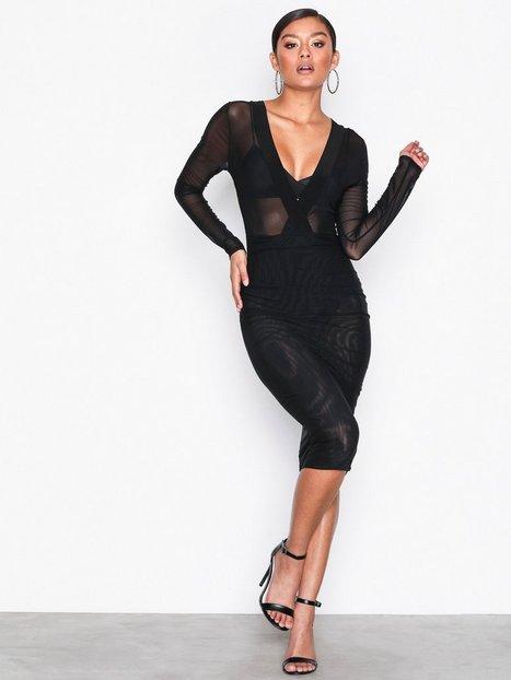 NLY One Daring Mesh Dress Kotelomekot Musta thumbnail