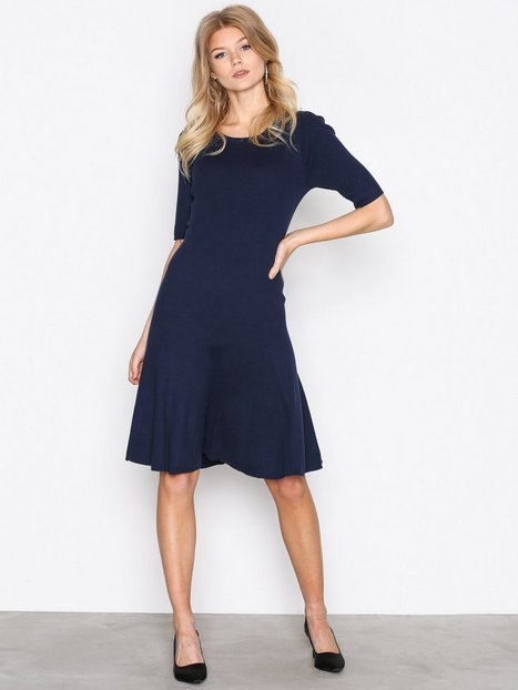 Lauren Ralph Lauren Teagin Elbow Sleeve Dress Loose fit dresses Navy thumbnail