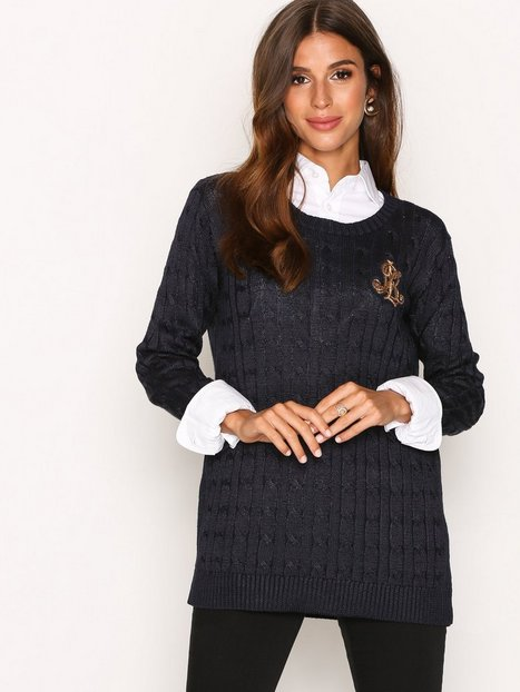 Lauren Ralph Lauren Kati Long Sleeve Sweater Stickade tröjor Navy thumbnail