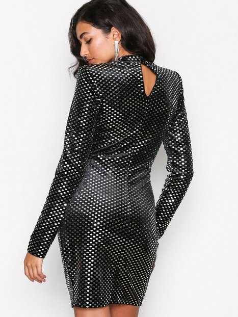 Shoulder Pad Glam Dress