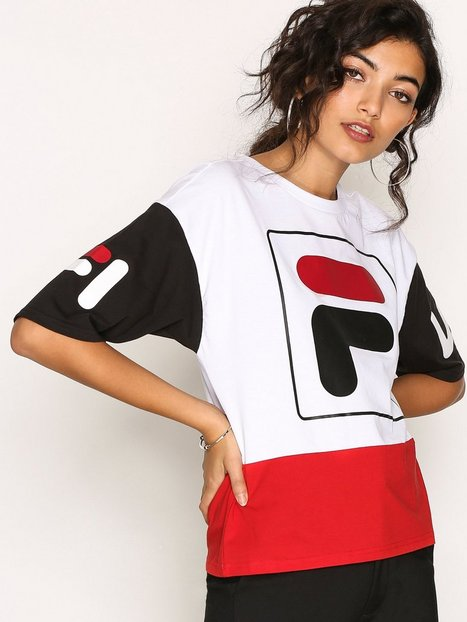 Fila Late Cropped Tee T-shirts Bright White thumbnail
