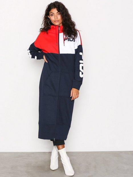 Billede af Fila Alva Long Sweat Dress Loose fit dresses Mørkeblå