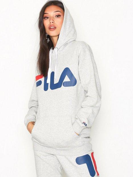 Billede af Fila Classic Logo Hood Sweatshirt Light Grey Melange