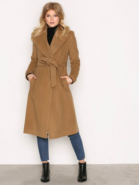 Wrap Wool Coat - Lauren Ralph Lauren - Camel - Jackets - Clothing ...