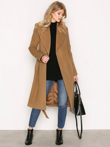 Wrap Wool Coat - Lauren Ralph Lauren - Camel - Jackets - Clothing ...