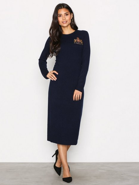 Polo Ralph Lauren Crew Neck Casual Dress Klänningar Navy thumbnail