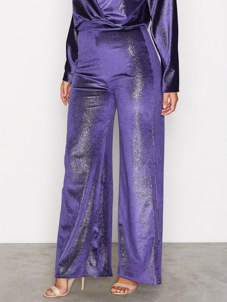 Billede af NLY One Shimmer Velvet Pant Bukser & Shorts Blå