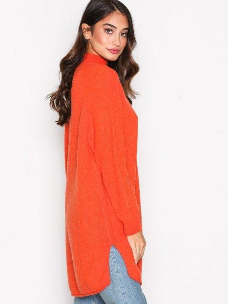Billede af American Vintage Robe COL Montant Strikket trøje Orange