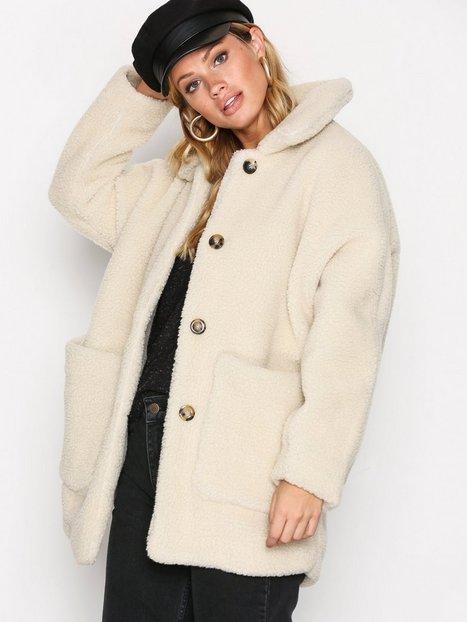 Billede af American Vintage Manteau Long Coat Faux Fur Ecru