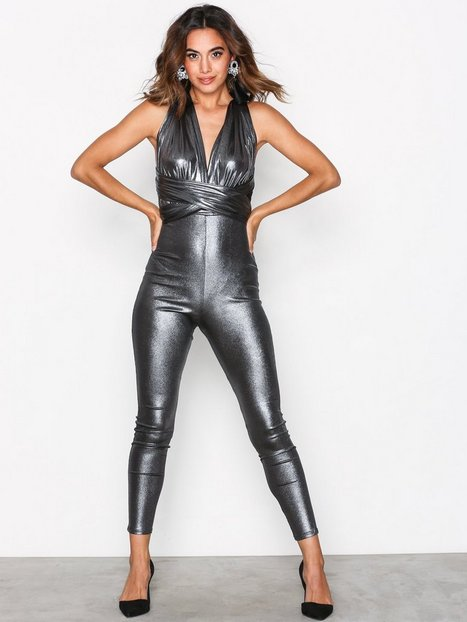 Multi Tie Metallic Jumpsuit