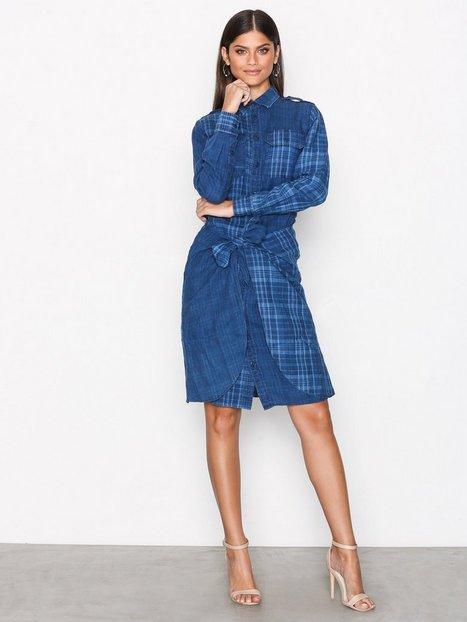 Polo Ralph Lauren Long Sleeve Linen Dress Pitkähihaiset mekot Indigo thumbnail