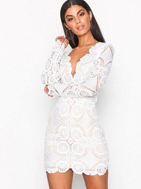 Billede af Love Triangle Atomic Mini Dress Kropsnære kjoler White