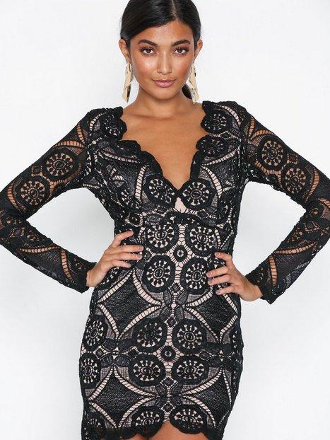 Billede af Love Triangle Atomic Mini Dress Kropsnære kjoler Black