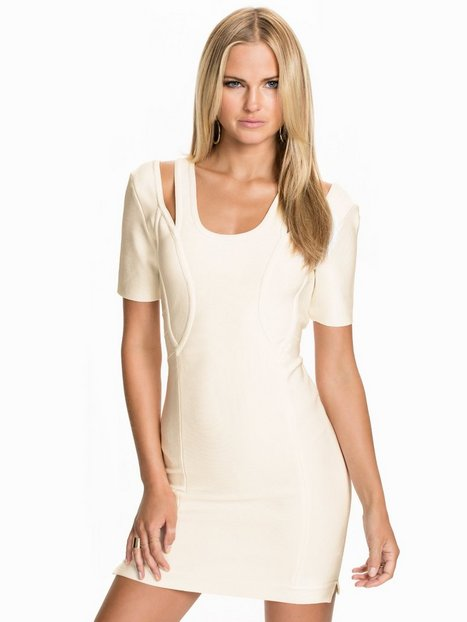 Billede af Rebecca Stella For Nelly Bandage Dress Kropsnære kjoler Hvid