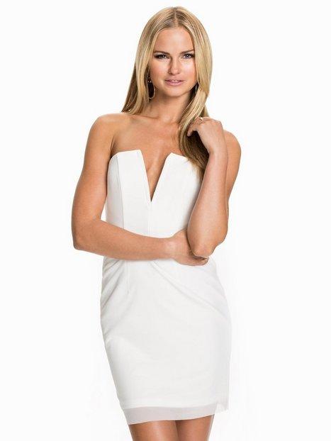 Billede af Rebecca Stella For Nelly V-Chest Dress Kropsnære kjoler Hvid