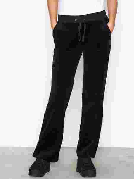 23f4c2d7 Velour Del Rey Pant - Juicy Couture - Pitch Black - Bukser & Shorts ...