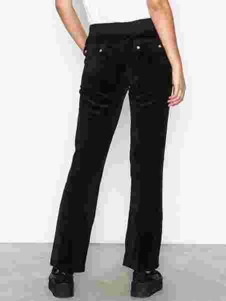 23f4c2d7 Velour Del Rey Pant - Juicy Couture - Pitch Black - Bukser & Shorts ...