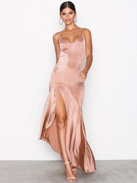 NLY One Split Frill Dress Maksimekot Rose thumbnail