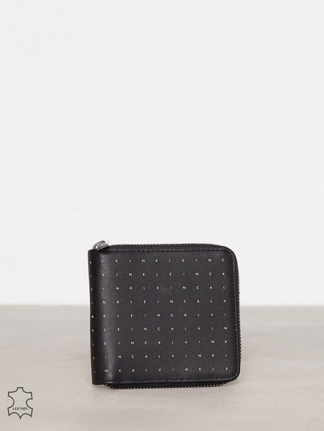 Billede af Calvin Klein Calvin Grid 4CC Zip Around Pung Sort