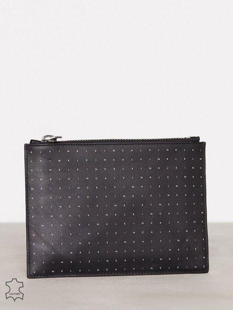 Billede af Calvin Klein Calvin Grid Flat Pouch M Håndtaske Sort