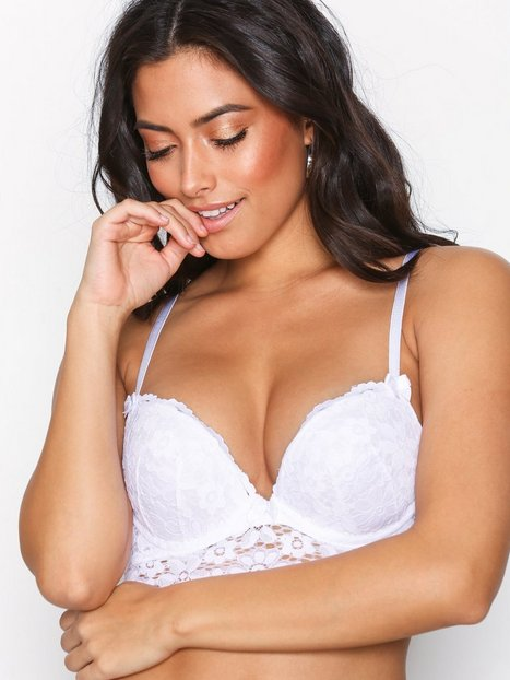 NLY Lingerie For Me Push Up Bra Bustier & Negligee Valkoinen thumbnail