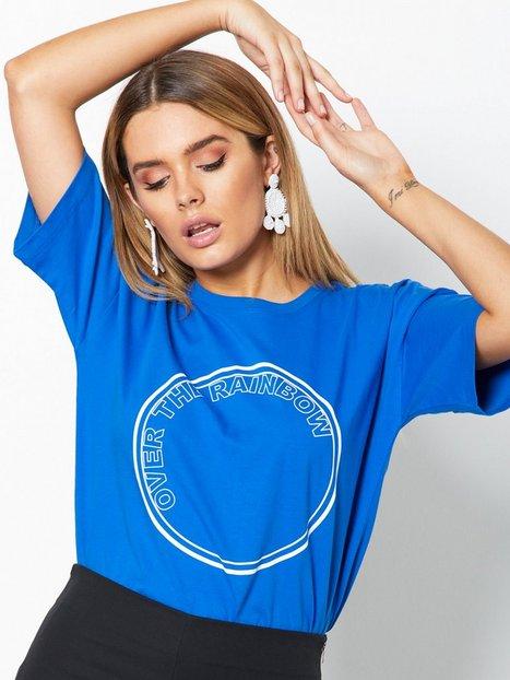 Billede af Gestuz Rainbow ss top T-shirt Blue