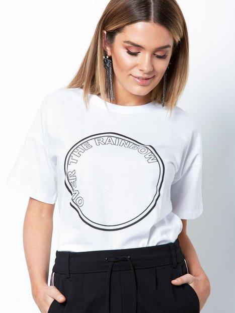 Billede af Gestuz Rainbow ss top T-shirt Bright White
