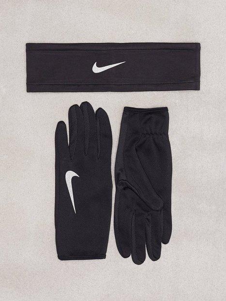 Billede af Nike Run Headband Glove Set Pandebånd & Armbånd Sort